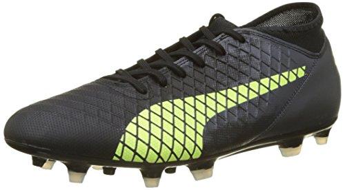 Puma Herren Future 18.4 FG/AG Fußballschuhe, Schwarz Black-Fizzy Yellow-Asphalt 02, 44.5 EU (Herren Klett Schuhe)