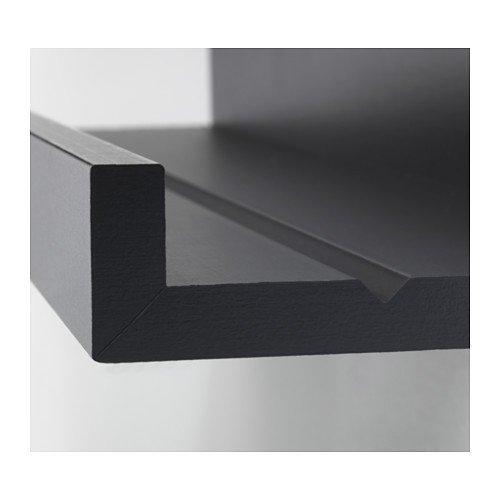 IKEA MOSSLANDA Bilderleiste in schwarz; (115cm)