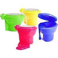 6x Schleim mit Pupsgeräusch in einer Mülltonne in coolen Farben Mitgebsel