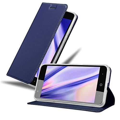 Cadorabo Funda Libro ZTE Blade V8 Classy Azul Oscuro