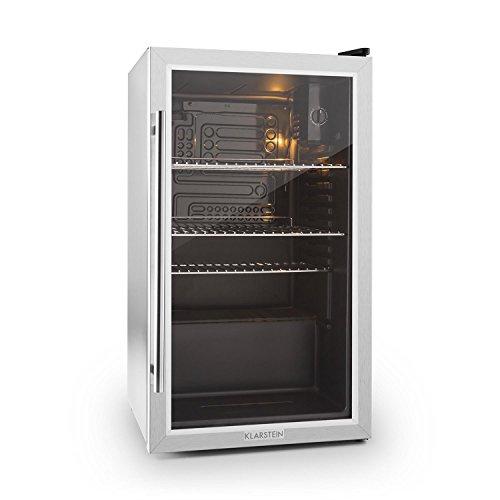 Klarstein 10027673 réfrigérateur Autonome Noir, Acier inoxydable 85 L C - Réfrigérateurs (85 L, 42 dB, C, Noir, Acier inoxydable)