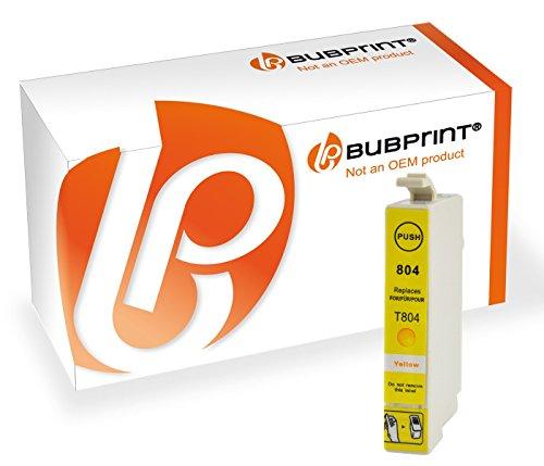 Preisvergleich Produktbild Bubprint Druckerpatrone kompatibel für Epson T0804 yellow