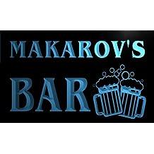 w075581-b MAKAROV Name Home Bar Pub Beer Mugs Cheers Neon Light Sign