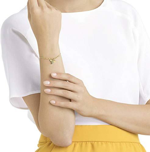 Imagen de swarovski remix strand bee  pulsera de acero inoxidable para mujer, l 17 cm , dorado alternativa