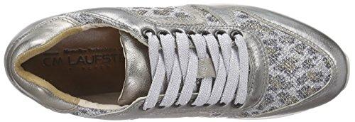 Laufsteg München Fs162001h, Baskets Basses femme Argent - Silber (silver leopard glitter)