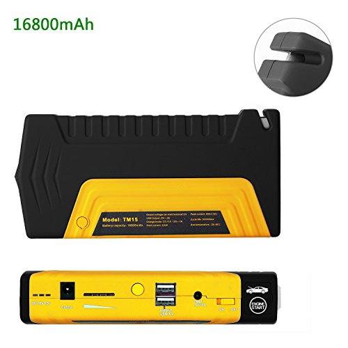 Jump-Starter-16800mAh-Yokkao-Avviatore-di-Emergenza-con-Corrente-Pico-600A-per-Auto-Caricabatteria-Portatile-con-2-Uscite-USB-Torcia-Led-per-Auto-Smartphone-PC-Notebook-Tablet-iPhone-iPad-Giallo
