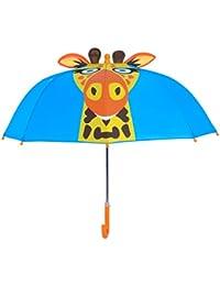 Rainbrace Paraguas infantil burbuja para niño/niña,girafa