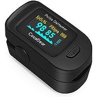 Oxímetro de Pulso, CocoBear Pulsioxímetro con Pantalla OLED, Oxímetro con función de alarma, Aaprobado por la FDA y la CE, Oxímetro de dedo para medir la saturación de oxígeno en la sangre (Sp02)