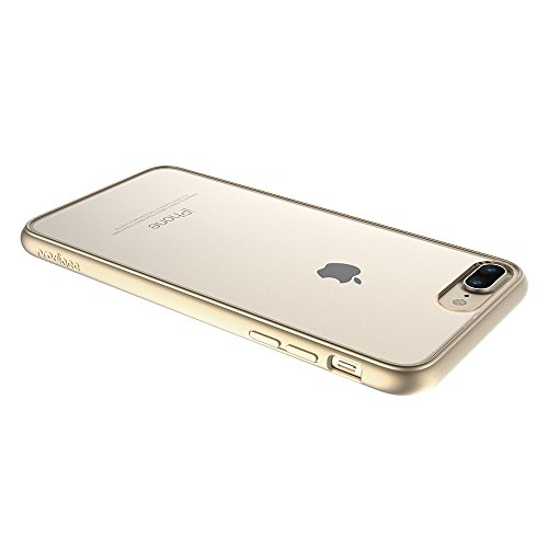 "Apple iPhone 7 Plus case, Prodigee [Scene] Platinum klar Transparent Schutz dünn Hülle Stück dünner dünn for iPhone 7 Plus (2016) 5.5"" Phone Case w/ Clear back Gold"