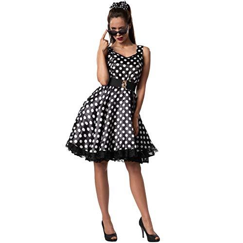 dressforfun 900379 - Damenkostüm Rockabilly Lady, Attraktives Trägerkleid im Stil der 50er Jahre (XL | Nr. 302158) (Der Im Röcke Jahre 50er Stil)