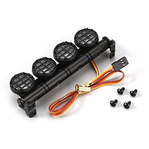 Delicacydex AX-506W Multi-Funktions-Ultra-Bright-Lampe LED-Dach-Lichtleiste mit 4 Strahlern für 1/10 1/8 RC Auto HSP Tamiya CC01 Axial SCX10 -