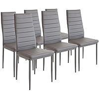 albatros 2700 milano 6 x chaise de salle manger gris - Chaise Salle A Manger Gris
