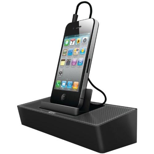 iLuv ISP125BLK - Altavoz portátil, con puerto dock para smartphones,