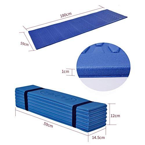 Axlf stuoia da picnic pieghevole da esterno stuoia a prova di umidità ultralight individuale tenda da campeggio pad addensare cuscino da notte siesta carpet 180 & times; 59 & times; 1cm,mare blu