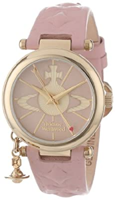 Vivienne Westwood Women's Orb II Quartz Watch with Analogue Display and Leather Strap