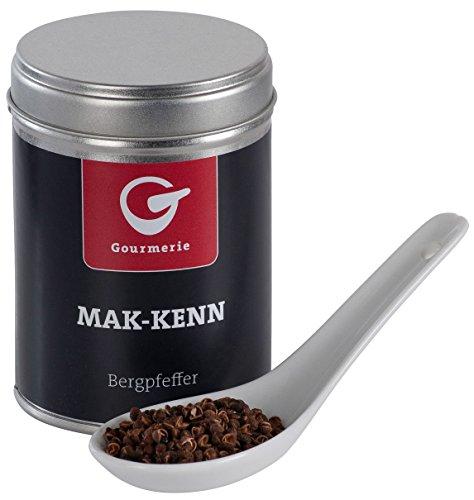 Gourmerie Mak-Kenn Bergpfeffer 35 g, Gourmet-Gewürz mit milder Schärfe, vielseitig einsetzbar, Pfefferkörner, auch toll als - Dose Aus Hamburger Der