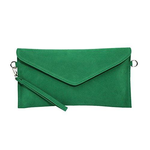 Jieway - Borsetta senza manici donna verde