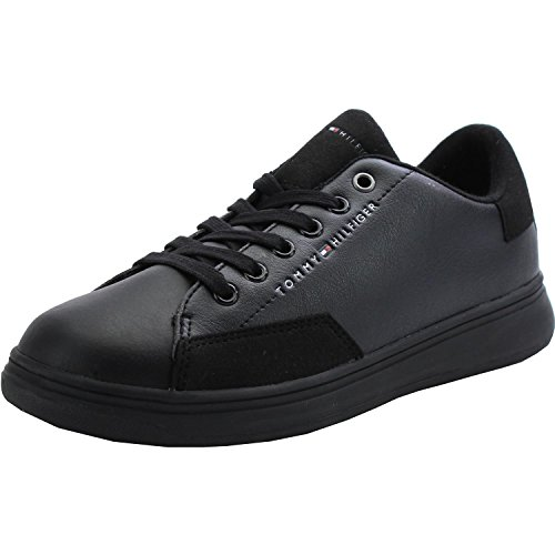 Zero Jr 5C Hilfiger Youth Tommy Sneakers Leather Black Black q56OWxS