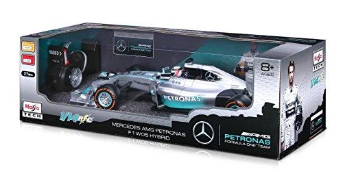 Maisto 81253 - Fahrzeug - 1:14 R/C Formel 1 Mercedes RTR, Rosberg, silber