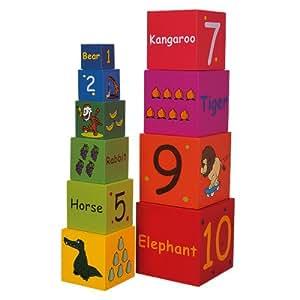 Eurekakids - Jeux de construction - Pyramide de cubes en bois