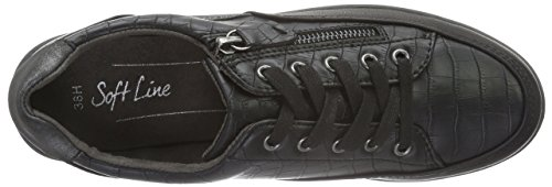 Softline 23660, Baskets Basses Femme Noir (BLACK COMB 098)