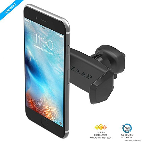 ZAAP-USA-Easy-Vent-One-3rd-Generation-Premium-Car-MountAir-vent-MountCar-mobile-holder-Award-winning-Tech-Universal-compatible-for-Smartphones-with-360-degree-rotation-fully-adjustable-view-Perfect-fo