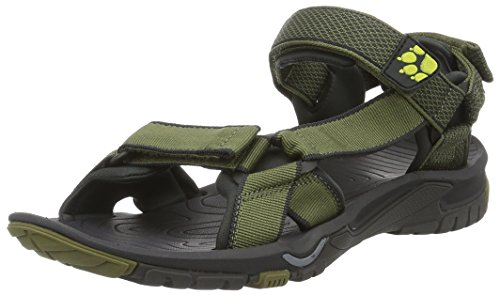 Jack Wolfskin Herren Lakewood Ride Sandal M Outdoor, Grün (Flashing Green), 43 EU