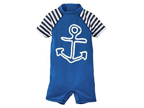 Kleinkinder Jungen UV-Schutz-Badebekleidung VErschiedene Größen und Farbe wählbar (Blau-Weiß Anzug, 86-92)