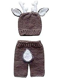 hibote Fotografie Prop Baby Kostüm niedlich Pfau Stricken Handarbeit