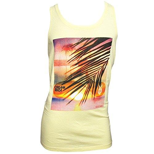 Cream Tank Top Shirt (Cream Ibiza: Sonnenaufgang Herren Tank - Gelb, XL - Extra Large)