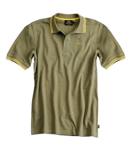 Alpha Industries Twin Stripe Polo Green