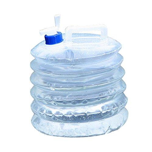 5L Bidon d'eau Poche d'eau Portable Bidon Rétractable pour Camping Randonnée Pique-Nique Ou Voiture pour Le Transport d'eau, Parfait pour Voyage Voiture Maison