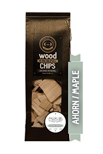 Grillgold Wood Smoking Chips – copeaux de bois d'érable pour fumage 1,75 Liter