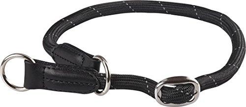 Knuffelwuff 13986-007 Hundehalsband, Dressurhalsband, Rundhalsband, reflektierend Halsumfang bis, 55 cm, Breite, 1.0 cm, schwarz