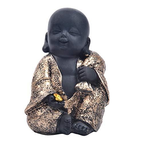187573ca611 B Blesiya Escultura de Buda de Resina de Estilo Chinease Monje de Risa  Lindo Buda Tallado