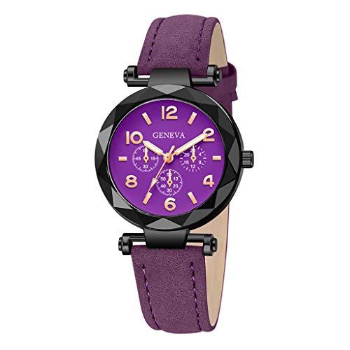 Dorical Armbanduhr für Damen Analog Quarz mit Kunstlederband,Damenuhr, Oktoberfest Vintage Muster Analog Quarzuhr Retro Uhr Ausverkauf(G)