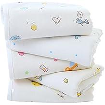 ... Dibujos Animados Suaves Cómodos de Algodón Fibra de Bambú Compuesto Baby Shower Toalla de Baño para Bebés Toallitas de Baño Reutilizables Recién Nacidos ...
