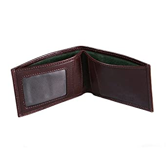 SAGEBROWN Brown Travel Card Billfold Wallet
