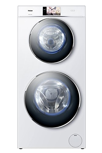 Haier HWD120-B1558U Waschtrockner / A / 1628 kWh/Jahr / 1500 UpM / 12kg / 12800 L/jahr / 2 Trommeln / Direct Motion Motor