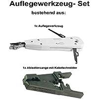 LSA – Herramienta de inserción Juego con pelacables con cortador para de cable de red,