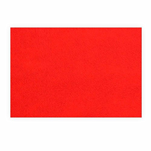 Preisvergleich Produktbild Filz zum basteln selbstklebend A4 rot Klebefilz farbig