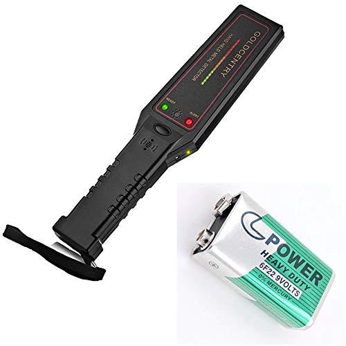 ZQYR CAMERA# Hand Metall Detektor Sicherheit & Scaner mit Summer/Erschütterung LED Alarm auf der Suche nach, Flughafen und Grenze, Pakete und Buchstaben (Model: GC-1002)