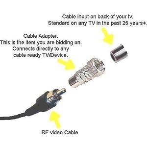 Old Skool Atari 2600 RF TV Coaxial F Plug Female Adapter by Old Skool