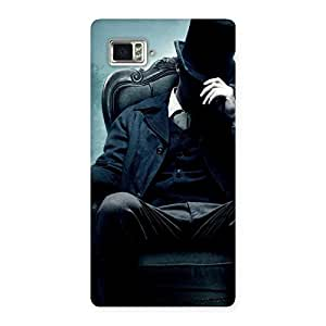 Special Sitting Hat Man Back Case Cover for Vibe Z2 Pro K920
