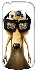 Striking 3D multicolor printed protective REBEL mobile back cover for Samsung Galaxy S3-Mini - D.No-DEZ-2667-s3m