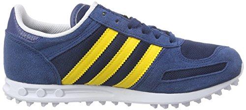 adidas Originals La Trainer, Baskets Basses mixte enfant Bleu - Blau (Shadow Blue S16-St/Eqt Yellow S16/Ftwr White)