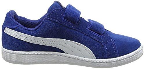 Puma Smash Fun Sd V Ps, Scarpe da Ginnastica Basse Unisex – Bambini Blu (True Blue-puma White 06)