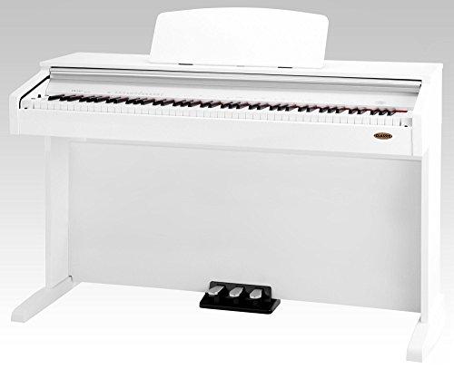 Classic-Cantabile-DP-210-WH-E-Piano-Digitalpiano-mit-Hammermechanik-88-Tasten-2-Anschlsse-fr-Kopfhrer-USB-Metronom-3-Pedale-Piano-fr-Anfnger-wei-hochglanz