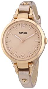 Fossil Damen-Armbanduhr Analog Quarz Leder ES3413