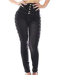 FARINA 1350 Denim pantalones, vaqueros de mujer, Push up/Levanta cola, pantalones vaqueros elasticos colombian,moda cintura alta color negro ,talla 34-48/XS-3XL